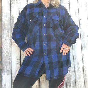 Vintage FIVE BROTHER Shirt Buffalo Plaid Flannel L